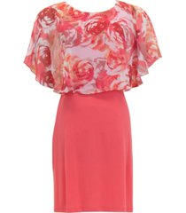 connected floral-popover a-line dress