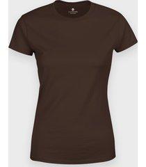 damska koszulka (bez nadruku, gładka) - brązowa