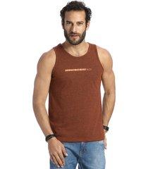 camiseta vlcs regata gola redonda marrom - marrom - masculino - dafiti