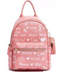 like dreams love blessed pom pom vegan leather backpack