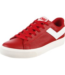 zapatilla roja pony top star ox mini relax