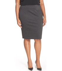 plus size women's vince camuto ponte knit skirt, size 1x - grey