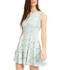 city studios juniors' floral lace a-line dress