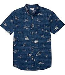 camisa hombre sundays mini azul oscuro billabong