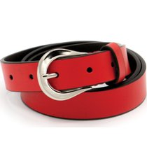 calvin klein women's 25mm flat strap leather belt