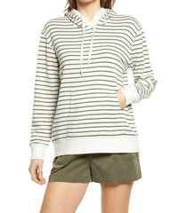 women's caslon french terry pullover hoodie, size medium - ivory