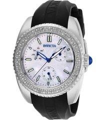 reloj invicta negro modelo 284il para dama, colección angel