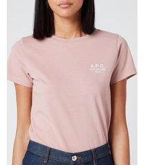 a.p.c. women's denise t-shirt - fae vieux rose - l
