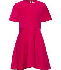 satin matt dress jurk roze calvin klein