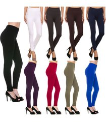 winter warm leggings fleece lined solid stretchy thick
