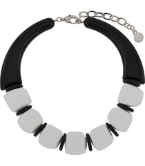 emporio armani oversized acrylic bead necklace - black