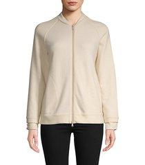 raglan-sleeve cashmere-blend jacket