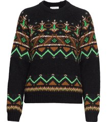 asta sweater gebreide trui multi/patroon wood wood