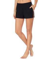 women's room service pjs rainbow trim pajama shorts, size x-large - black (nordstrom exclusive)
