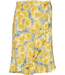 rica 60 skirt knälång kjol gul andiata