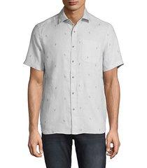 cactus-print linen shirt