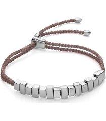 sterling silver linear ingot bracelet