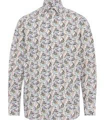 paisley poplin shirt - contemporary fit skjorta casual multi/mönstrad eton