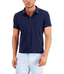 alfani men's textured polo shirt, created for macy's
