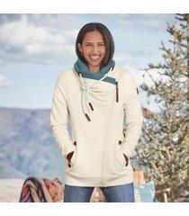 sundance catalog women's raelyn sweatshirt in ivory large