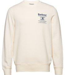 barbour reed crew sweat-shirt tröja creme barbour