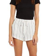 women's volcom sunday strut shorts, size x-small - white