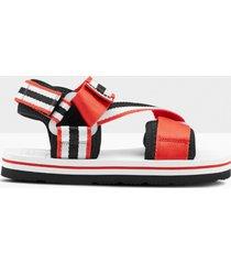 hunter women's original beach sandals - hunter red/hunter white/black - uk 5