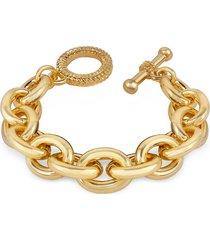 az collection designer bracelets, gold plated chain toggle bracelet