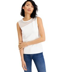 bar iii mesh-inset tank, created for macy's