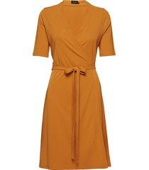 abigail jurk knielengte geel residus