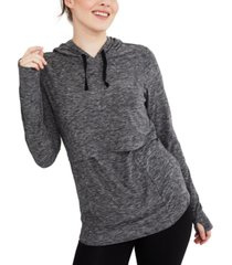 motherhood maternity tiered nursing hoodie