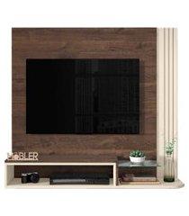 bancada suspensa londres p/ tv até 48 polegadas madero/off white belaflex móveis