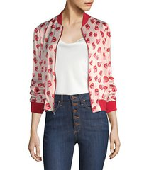 alice + olivia x donald lonnie bomber jacket