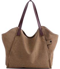 donna borsa a spalla leggera casual a tela forte e durevole a grande capacità borsa a mano