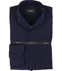 olymp dress hemd 851884 blauw