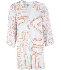 blusa kimono fila summer - feminina - branco