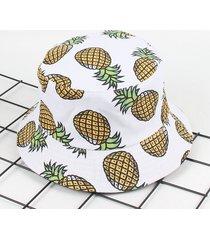 cappello da pescatore stamapto di banana ananas con protezione di radiazione solare