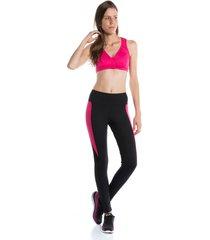 calça legging pinyx neon clubber preto e rosa