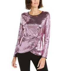 inc twisted sequined top, created for macy's