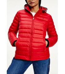 chaqueta th essential plegable rojo tommy hilfiger