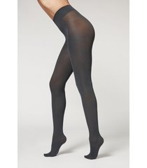 calzedonia 50 denier total comfort soft touch tights woman grey size 3