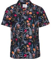 fleur d'été ss shirt overhemd met korte mouwen multi/patroon les deux