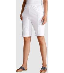 mjuka shorts med midjeresår paola vit
