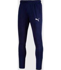 pantalón de buzo puma active tricot pants cl azul - calce regular