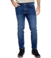 regular fit jeans tono oscuro bota recta color blue