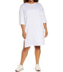 plus size women's treasure & bond t-shirt dress, size 1x - white