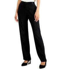 alfani petite jacquard straight-leg pants, created for macy's