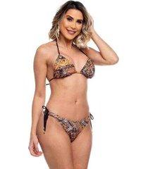 biquini cortininha asa delta com lacinhos bora bora maré brasil feminino - feminino
