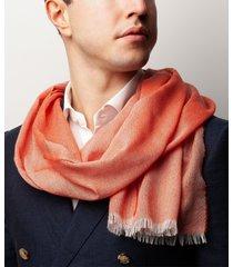 sciarpa da uomo, maalbi, seta cashmere arancione, quattro stagioni | lanieri