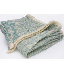 "coral tri-weave matelasse cotton throw blanket, 50"" x 70"""